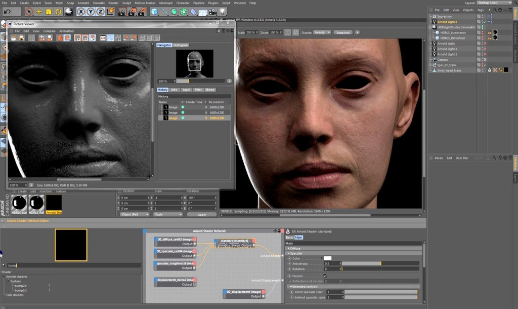 Arnold Rendering a Photorealistic Portrait in Cinema 4D 1